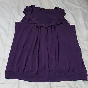 The Limited Sleeveless Silky Feel Blouse Purple S